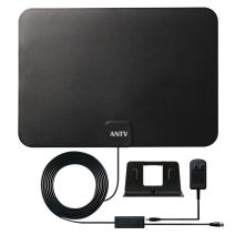 ANTV Indoor Digital HD TV Antenna with Amplified Booster - Powerful Receive Free Local Channels Support All Television with 10 ft Coaxial Cable, Original Paper-Thin Tech [UHF/Vhf/1080P/4K]