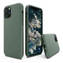SURPHY Silicone Case Compatible with iPhone 11 Pro Max Case 6.5 inch, Liquid Silicone Full Body Thickening Design Phone Case (with Microfiber Lining) for iPhone 11 Pro Max 6.5 2019, Pine Green