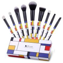 DUcare Makeup Brush Set 9 Pcs Gift Box Professional Essential Face Powder Eye Shadow Powder Liquid Cream Kit