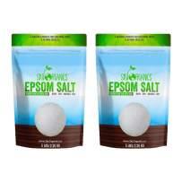 Sky Organics Epsom Salt - 100% Pure Magnesium Sulfate, USP Grade, Kosher, Non-GMO - Bath and Foot Soak, Soothing Body Soak. Made in USA, 5 lbs (Pack of 2)