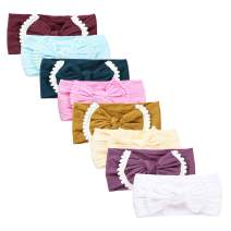 Baby Girl Nylon Headbands Newborn Infant Toddler Hairbands and Bows Child Hair Accessories (SY12-8pcs)