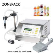 ZONEPACK Liquid Filling Machine Pump Numerical Filler Digital Control Drink Water 5ml to 3500ml GFK160 (Machine with One Extra 4mm Nozzle)