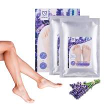 Foot Peel Mask, 1 Pack Exfoliating Foot Peel Spa Mask for Exfoliating Peel Off Calluses & Dead Skin Cells, 1 Pack Moisturizing Foot Mask for Baby Smooth Soft Feet for Men & Women(Lavender, Aloe)