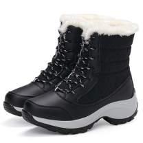 Xiakolaka Women Winter Boots Waterproof Snow Sneaker Booties with Fur Lined Warm Boots