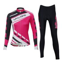 ILPALADINO Womens Cycling Jersey Clothing Set Long Sleeve Quick Dry Breathable