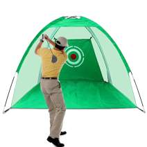 Lesmart Golf Practice Hitting Nets for Backyard Driving Golfers Training Aids with Target Sheet and Carry Bag for Indoor Outdoor Sports