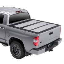 A.R.E. Fusion Painted Hard Fold Truck Bed Tonneau Cover   AR42015L-3R3   fits 2016-2020 Toyota Tacoma 6' bed, Paint Code: 3R3 Bright Red