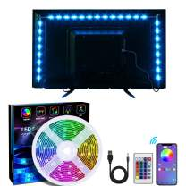 Xbuty Led Strip Lights 6.56ft for 40-60in TV, USB LED TV Backlight Kit with Remote - 16 Color Changing 5050 LEDs Bias Lighting for HDTV PC Monitor