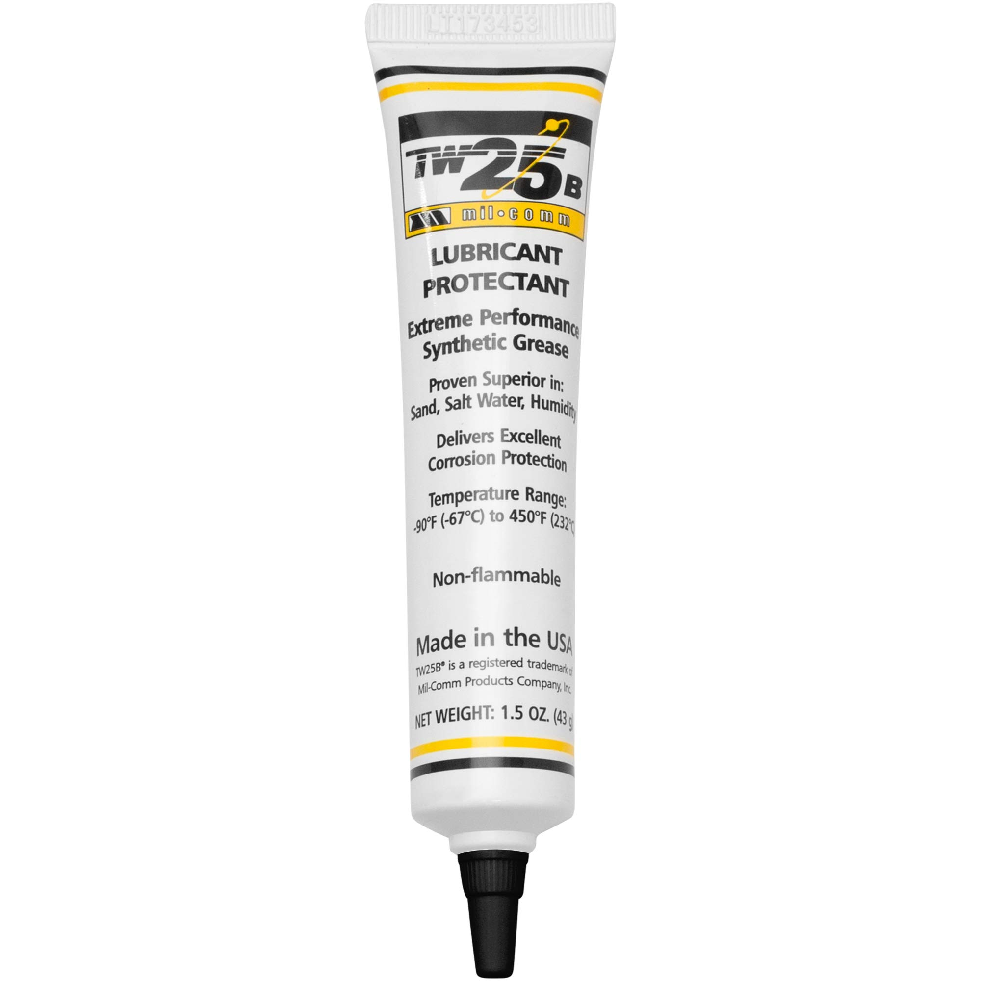 Mil-Comm TW25B Gun Grease Lubricant 1.5-Ounce Tube