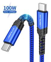 USB C to USB C 3.1 Gen2 Cable 3.3ft, JSAUX [10Gbps/100W] USB-C 4K@60Hz Video PD Cable Compatible with MacBook Pro, MacBook, MacBook Air, iPad Pro 2018, Switch, Pixel and More Type-C Devices-Blue