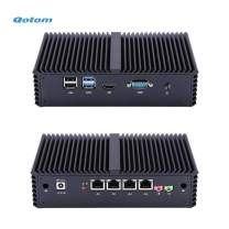 Qotom 4 LAN Mini PC Core i5, 4Gb Ram 128Gb SSD, Fanless Mini PC Windows, Linux, OPNsense, Sophos, Vyos, Linux Iptables, Untangle, Etc.
