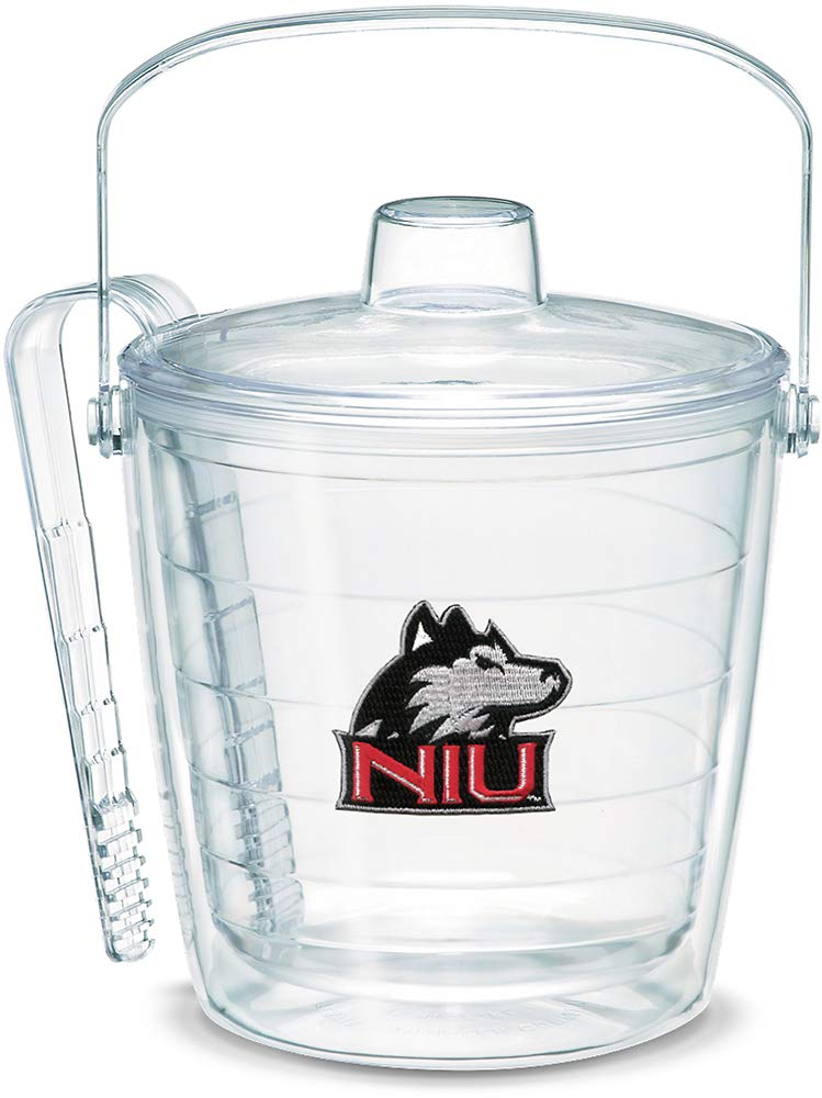Tervis 1053445 Northern Illinois Huskies Logo Ice Bucket with Emblem and Clear Lid 87oz Ice Bucket, Clear