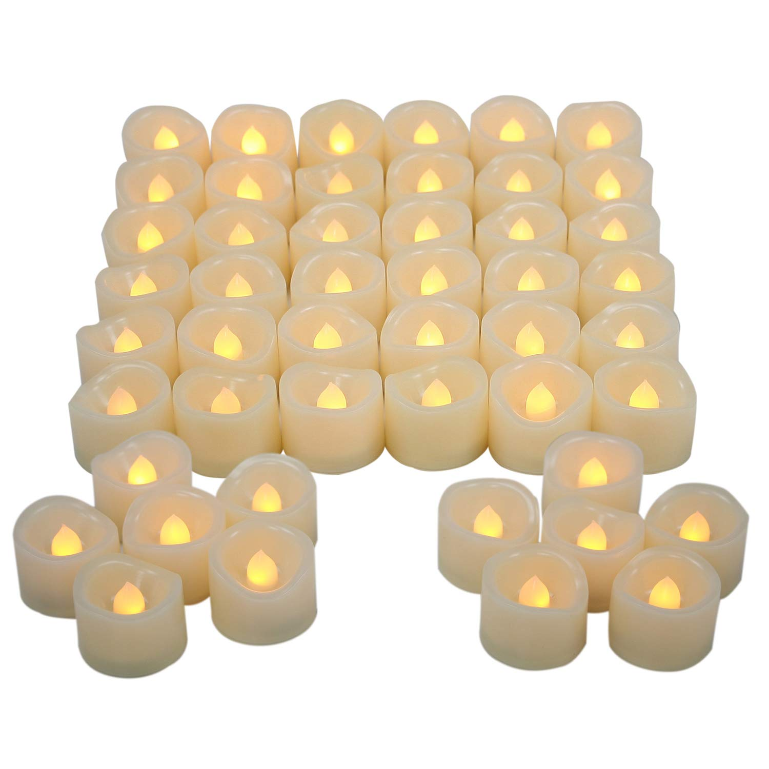 Candle Choice Set of 48 Flickering Flameless Candles Battery Indoor Outdoor Led Tea Lights Candles for Wedding Decorations, Birthday, Home Party