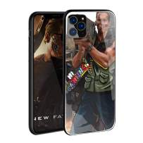 VANGOAL Creative Case for iPhone 11 Pro/Pro Max, Unique Designed Soldier with Rocket Launcher 9H Tempered Glass Back Cover with TPU Frame Protective Case for iPhone 11 (iPhone 11 Pro(5.8''),2#)
