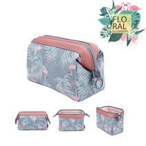Flower Makeup Bag, Black Sales Friday Deals Cyber Sales Monday DealsHandy Travel Cosmetic Makeup Clutch Bag Case Pouch Nylon Zipper Bag for Women Multifuncition Pencil Holder Pouch(Blue Flamingo)
