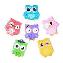 Owl Magnets for Fridge Refrigerator,6 Pcs Colorful Owl Decor Cartoon Magnets for Locker Office Whiteboards,Perfect Gifts for Kids Toddlers and Adults