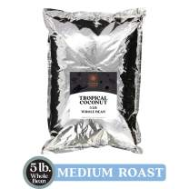 Copper Moon Whole Bean Coffee, Tropical Coconut, 5 Pound
