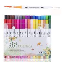 36 Colors Alcohol Brush Markers, Aeifond Dual Tip, Brush Fineliner Art Markers Permanent Sketch Markers for Kids Adult Coloring illustration Painting Card Making Sketching Drawing