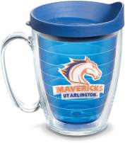 Tervis 1098623 UT Arlington Mavericks Logo Tumbler with Emblem and Blue Lid 16oz Mug, Blue