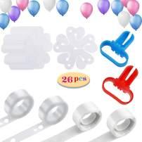Balloon Decorating Strip Kit, Balloon Arch Garland Kit, 2 Pcs 16Ft Balloon Tape Strip, 2 Pcs Tying Tool, 200 Dot Glue, 20 Flower Clip for Party Wedding Birthday Xmas Baby Shower DIY Decoration Supplies