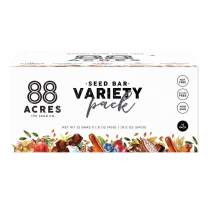 88 Acres Variety Pack Seed Granola Bars, Gluten-free, Nut-free, Non-gmo, Vegan (1.6 Oz, 12 pack)