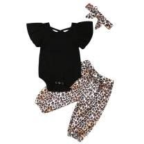 Newborn Baby Girl Organic Cotton Ruffled Long Sleeve Bodysuit Tops + Floral Harem Pants Baby Clothes Set