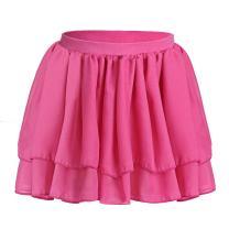 Ballet Leotard for Girls Flutter Ruffle Short Sleeve Flower Lace Bow Skirted Dress