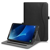 Fintie Case for Samsung Galaxy Tab A 10.1 (2016 NO S Pen Version), [Corner Protection] Multi-Angle Viewing Stand Cover with Pocket Auto Sleep/Wake for Tab A 10.1 (SM-T580/T585/T587), Black