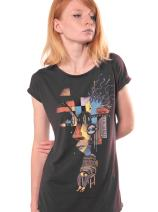 T-Shirt for Women - Abstract Reflections Top - Cotton Top - Artwork by Plazmalab