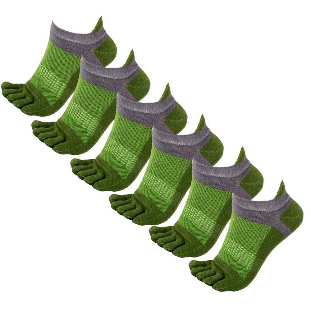 Panegy Low Cut Five Fingers Toe Socks Breathable Casual Athletic Ankle Sock for Men Women 3/6 Pack