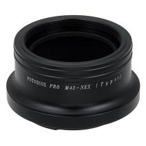 Fotodiox Pro Lens Mount Adapter, M42 Screw Mount Lenses (42mm x1 thread mount) to Sony E-Mount Mirrorless Camera Adapter - for Sony Alpha E-mount Camera Bodies (APS-C & Full Frame such as NEX-5, NEX-7, a7, a7II)