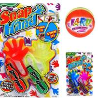 JA-RU Sticky Hands Stretchy Snap Smak Toys (1 Pack) Great Sticky Hand Party Favors Birthday Toy Supplies for Kids, Pinata Filler, Bulk Toys, Stocking Stuffers, Goody Bags. Prank Gag. 315-1p