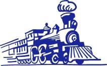 hBARSCI Christmas Train Vinyl Decal - 5 Inches - for Cars, Trucks, Windows, Laptops, Tablets, Outdoor-Grade 2.5mil Thick Vinyl - Cobalt Blue
