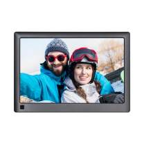 LOVCUBE 10 Inch Digital Photo Frame WiFi with IPS Panel 1280 x 800 HD Display Aspect Ratio 16:10 Support APP with 16GB Memory and Motion Sensor (Black)
