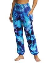 LOSRLY Womens High Waist Bohemian Tapered Elephant Harem Loose Yoga Lounge Pants with Pockets