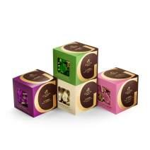 Godiva Chocolatier Assorted Dark Chocolate G Cube Gift Box, Set of 4