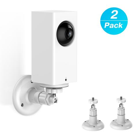 Wyze Cam Pan Wall Mount, Adjustable Indoor 360 Degree Swivel Ceiling Mount Bracket for Wyze Cam Pan 1080p Pan/Tilt/Zoom Wi-Fi Smart Home Security Camera by KASMOTION (2 Pack)