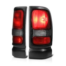 VIPMOTOZ Factory Style Tail Light Lamp For 1994-2001 Dodge RAM 1500 2500 3500 - Rosso Red Lens, Driver and Passenger Side