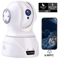 Wireless Camera, 1080P WiFi Security IP Camera, Pan/Tilt/Zoom Home Office, Shop, Baby, Pet Monitor with HD Night Vision, Motion Tracker, Auto-Cruise, Remote Monitor- Cloud Service Available