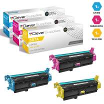 CS Compatible Toner Cartridge Replacement for HP M570dn CE401A Cyan CE402A Yellow CE403A Magenta HP Color Laserjet PRO 500 M570 M570DN M570DW M551DN M551N M551XH Flow M575C 3 Color Set
