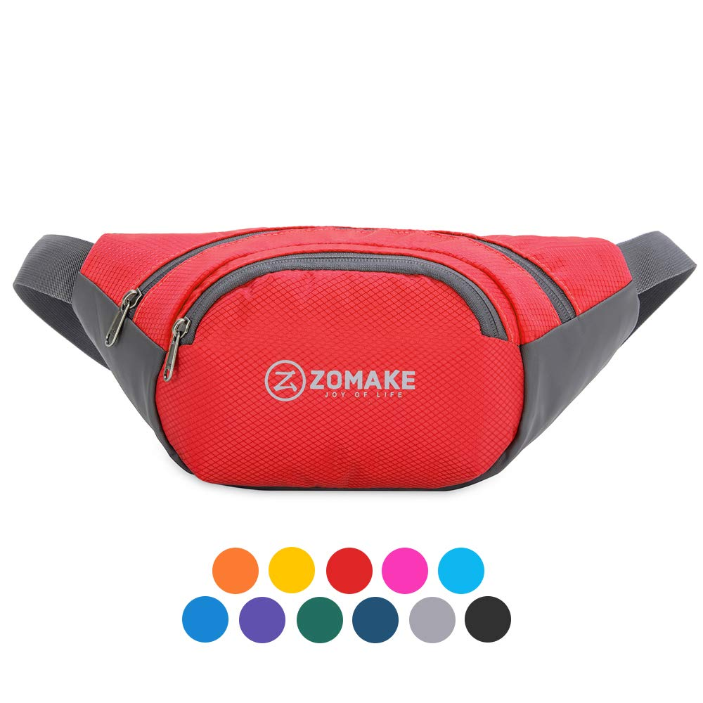 ZOMAKE Fanny Pack for Men Women, Water Resistant Waist Bag - Outdoors Workout Travel Casual Hiking Cycling with Large Compartment