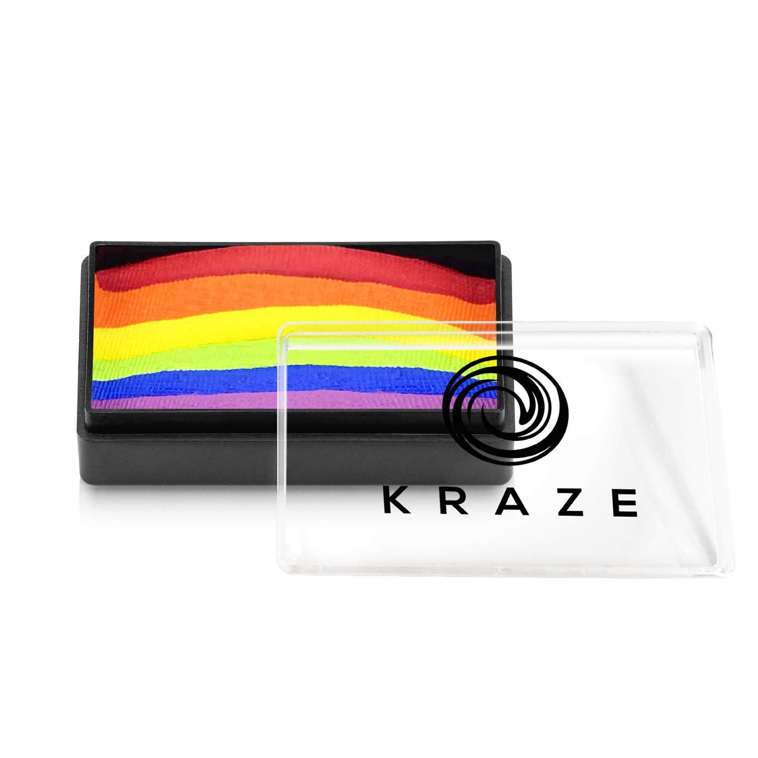 Kraze FX Dome Stroke - Deep Rainbow (25 gm), Professional 1-Stroke Split Cake, Hypoallergenic, Non-Toxic, Water Activated Face & Body Painting Makeup Supplies for Sensitive Skin, Kid Safe, Adults