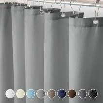 Eforcurtain Small Width Size 36 x 72-Inch Polyester Shower Curtains Easy Care - Water Repellent Unique Simple Style Bath Curtain in Gray Color Ideal for Kids and Teens
