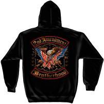 Erazor Bits 2nd Amendment Hoodie | 2nd Amendment Double Flag Hooded Sweat Shirt RN2245SW