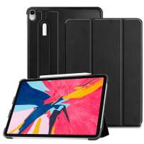 Fintie SlimShell Case for iPad Pro 11 Inch 1st Generation 2018 [Supports 2nd Gen Pencil Charging Mode] - Lightweight Stand Cover with [Secure Pencil Holder] Auto Sleep/Wake, Black