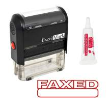 FAXED Self Inking Rubber Stamp - Red Ink (Stamp Plus 5cc Refill Ink)