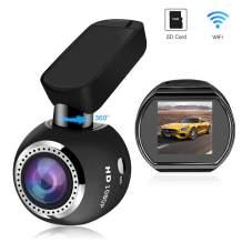 "WiFi Dash Camera, SIV Car Dash Cam Full HD 1080P Car Camera Recorder, Car Mini Dash Cam with 1.54"" LCD 170° Wide Angle, 360° Rotate Mount, Sony Sensor, G-Sensor, WDR,Loop Recording(Include TF Card)"