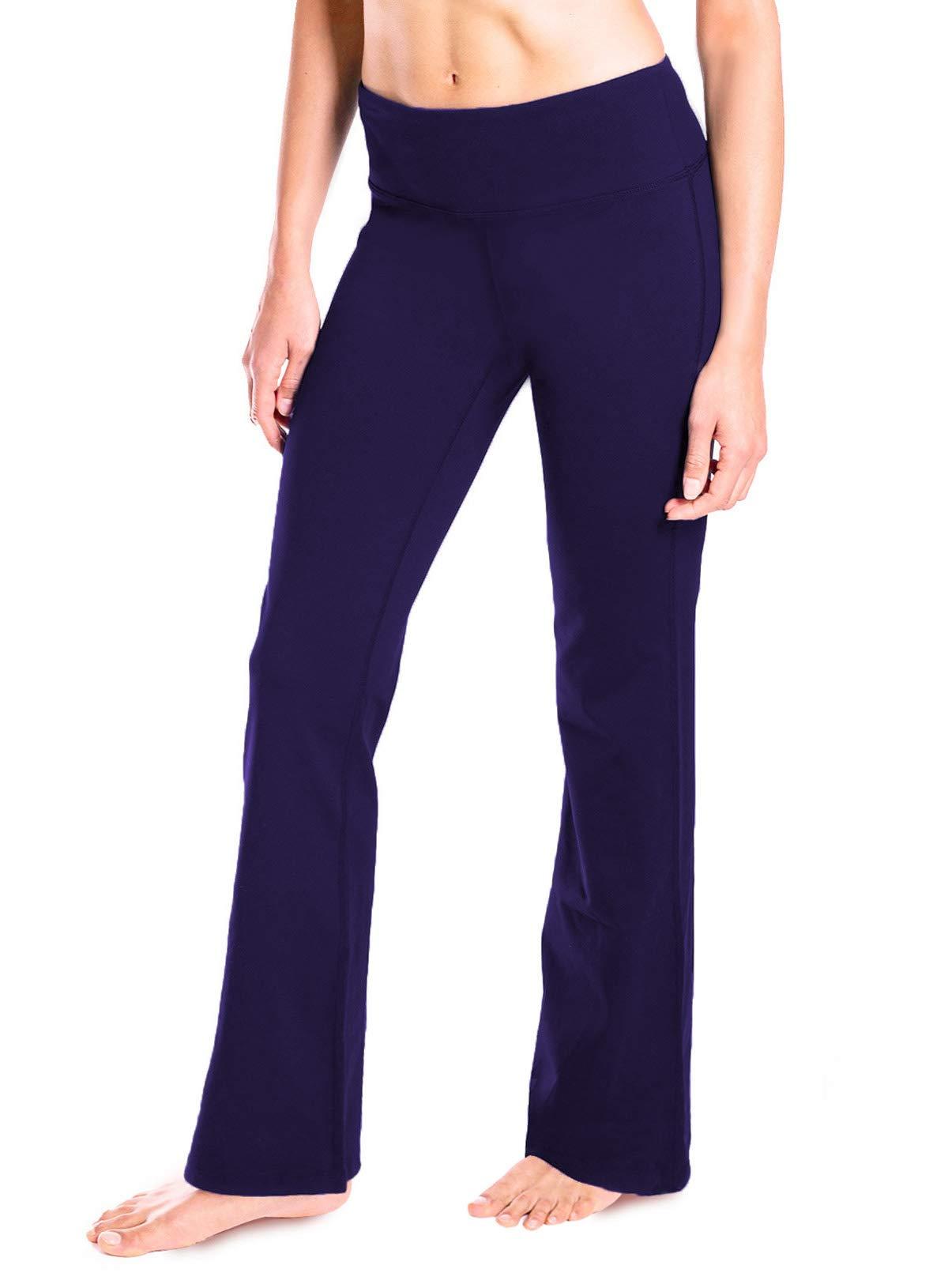 "Yogipace 27""/28""/29""/30""/31""/32""/33""/35""/37"" Inseam,Petite/Regular/Tall, Women's Bootcut Yoga Pants Long Workout Pants"