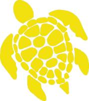 Sea Turtle Vinyl Decal - 8 Inches - For Cars, Trucks, Windows, Laptops, Tablets, Outdoor-Grade 2.5mil Thick Vinyl - Yellow