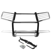 DNA MOTORING Silver GRILL-G-069-SS Front Bumper Brush Grille Guard [for 10-13 4Runner]